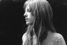 "Pamela Courson / One fine morning, in a land of very gentle people, a superb man and woman shouted in the public square: ""Friends, I want her to be queen!""   ""I want to be queen!""  She laughed and trembled.   He spoke to his friends of revelation, of ordeals terminated. They leaned on each other in ecstasy.  They were indeed sovereigns for a whole morning, while all the houses were adorned with crimson hangings, and for an entire afternoon, while they made their way toward the palm gardens. / by Twila Walker"