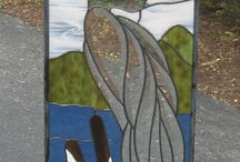 Stained Glass Herons