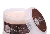 Velas Para Massagem / A vela para massagem é muito mais do que simples aromatizador de ambiente, após derretida torna-se um delicioso óleo corporal com gostinho todo especial para massagens e até sexo oral.