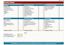 Review your Budget / Here is the budget page that I recommend that each of my client fill out and keep handy.  It is excellent to revisit this page at least quarterly, especially for those of use who use auto bill-payer services.  Those little increases from the utility companies (that's right cable, I am looking at you!) can add up over time.