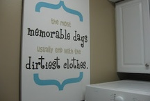 Laundry Room / White ship lap laundry room, rustic décor, white cabinet/storage, mudroom entry area, relocate washer/dryer