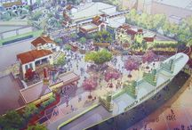 Theme Park Concept Art / Beautiful concept art from the World of Theme Parks!