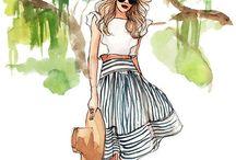 Ilustraciones de moda