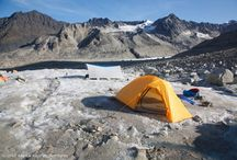 Alaska Packaneering Trips / Combining rugged backpacking with the addition of light glacier travel gear allows us to explore unnamed valleys and unclimbed peaks in the Alaska, Aleutian, and Brooks mountain ranges.  Whether plunging steps up a glacier clad peak in the Brooks Range, an active volcano in Katmai,  or pioneering new traverses in the Revelation Mountains or Neacola Mountains, you'll find our packaneering adventures authentic Alaska expeditions!