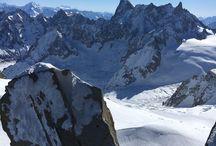 Le Mont Blanc- la vallée blanche