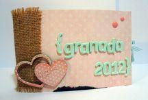 Mini album Granada 2012 / Estructura con sobres de tag para guardar recuerdos