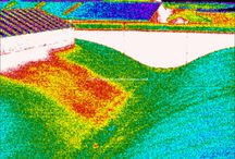 Flat roof surveys / Infrared thermal images of defective flat roofs (mainly water leaks)
