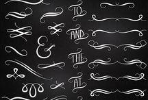 calligraphy flourish / calligraphy flourish 캘리그라피용 장식모음
