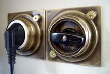 Handmade brass Electric switches and plugs