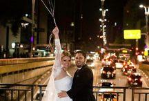 Ensaio fotográfico: Casamento com balões / Suas fotos podem ficar ainda mais bonitas com balões, inove em suas fotos usando balões.