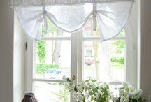 Curtain Ideas / Curtains, curtain tie backs, vintage, shabby, rustic, classic styles, handmade tie backs. Lots of inspirational curtain & window ideas.