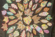 DECORAMOS LAS HOJAS DEL OTOÑO CON COLORES DE PRIMAVERA / Proyecto artistico desarrollado por Malayen Piqueras y Lola Ruíz  en el IES Heliche (Olivares, SEVILLA) 2º ESO
