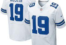 Cowboys #19 Miles Austin Home Team Color Authentic Elite Official Jersey