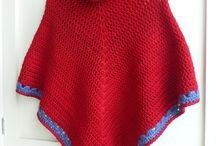 Free crochet cowl neck ponchos