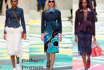 Burberry Prorsum / Burberry Prorsum collezione e catalogo primavera estate e autunno inverno abiti abbigliamento accessori scarpe borse sfilata donna.