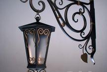 ferforje sokak lambası