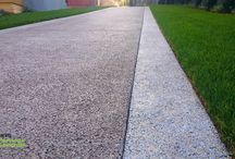 Decorative Finishes by Bay Area Pervious Concrete / Decorative applications and finishes for Pervious Concrete available through Bay Area Pervious Concrete. Located in Northern California.