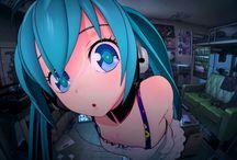 Hatsune Miku :3 / Este tablero se trata de una vocaloid japonesa animada  llamada Miku Hatsune o Hatsune Miku :3
