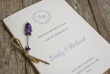 Wedding Menu Cards / Wedding menu cards and board displays.  Some great ideas for displaying your wedding breakfast menu.