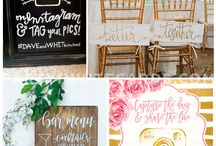 Wedding Signs / Wedding ideas - Wedding Signage made from various material. Rustic wedding signs are popular, and so are up-cycled doors and windows. DIY wedding signs includes printables available for purchase or wedding signs ideas you can do it yourself