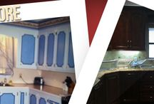 Before and After Kitchen Remodel / Before and After Kitchen Remodel by Campbell Custom Homes
