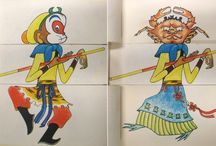 Monkey King / The much-loved character Sun Wukong (孙悟空) in the 16th-century novel Journey to the West (西游记) about the pilgrimage of Xuanzang (玄奘), the monk who took the Silk Road in the early Tang dynasty to obtain original Buddhist scriptures from India. (See Minjie CHEN's blog,  https://blogs.princeton.edu/cotsen/2016/02/monkey-craze/)  Monkey King 猴王  //  Havoc in Heaven 大闹天宫