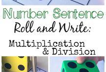 Math Centers / multiplication, division, time, measurement, fractions,