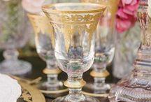 Glassware Collection / Beautiful Decorative and Coloured Glassware for Hire