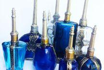 Blauwe parfumflesjes / Parfumflesjes