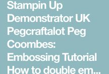 How to Double Emboss