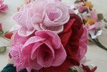 iğne oyasından çiçekler