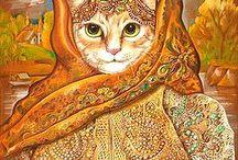 macskák minden féle öltözetben