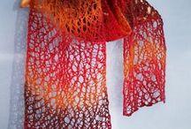 вязанные шали и шарфы