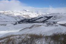 La neve a monaco di mezzo