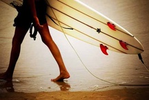 surf school ~ / surfer style and ocean waves