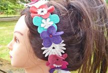 Accessoires de mode / Headbands, couronnes de fleurs, ceintures, sacs à main... Des accessoires uniques réalisés à la main...