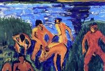 Heckel / Storia dell'arte Pittura Xilografia Erich Heckel  1883-1970