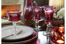 Winter & Christmas Tables / Be inspired and mix and match to create your own winter and holiday table-settings!