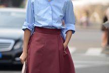 Niebieska koszula outfit