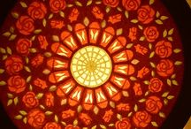 rose window paper craft