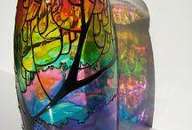 projekty na vyskusanie / malba na sklo