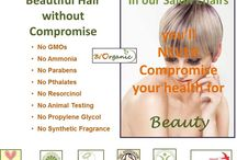 Hair colour by Bi'Organic / Our products are certified organic and doesn't contain the following harmful chemcials: GMO's, ammonia, parabens, pthalates, resorcinol, propylene glycol or synthetic frangance. It was not tested on animals either and safe to use during pregancy and cancer treatements