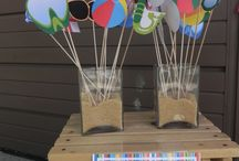 beach party theme decorations
