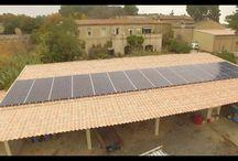 vidéo par drone d'une installation photovoltaique