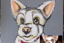 Portrait pet / Handpainted pet
