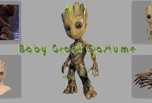 Baby Groot Costume /  Groot is a Marvel Fictional Superhero That you have seen In movie Guardians Of The Galaxy. Groot is a tree monster who initially came to Earth seeking humans to capture and study. Groot costumes and toys are available in this Board.