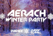 Aerach Winter Party / At the 23rd of january 2016 DJ Pushee live in the Turks Head, Dublin, Ireland.