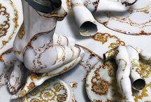 corps de céramique et peinture