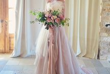 wedding pink&white fether