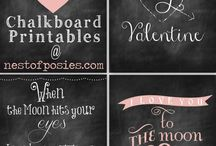 Chalk Board Inspiration / by Michelle Griep